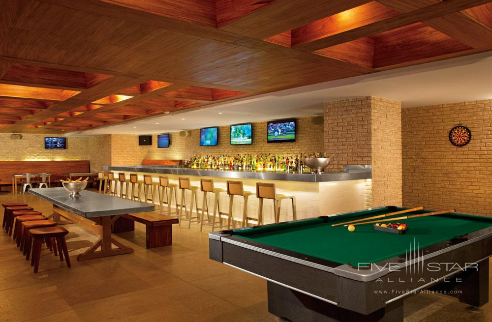 Half time sports bar at Secrets The Vine CancunMexico
