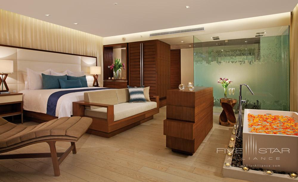 The-Honeymoon Suite offers an in-room soaking tub for ultimate-relaxation at Secrets The Vine Cancun, Mexico