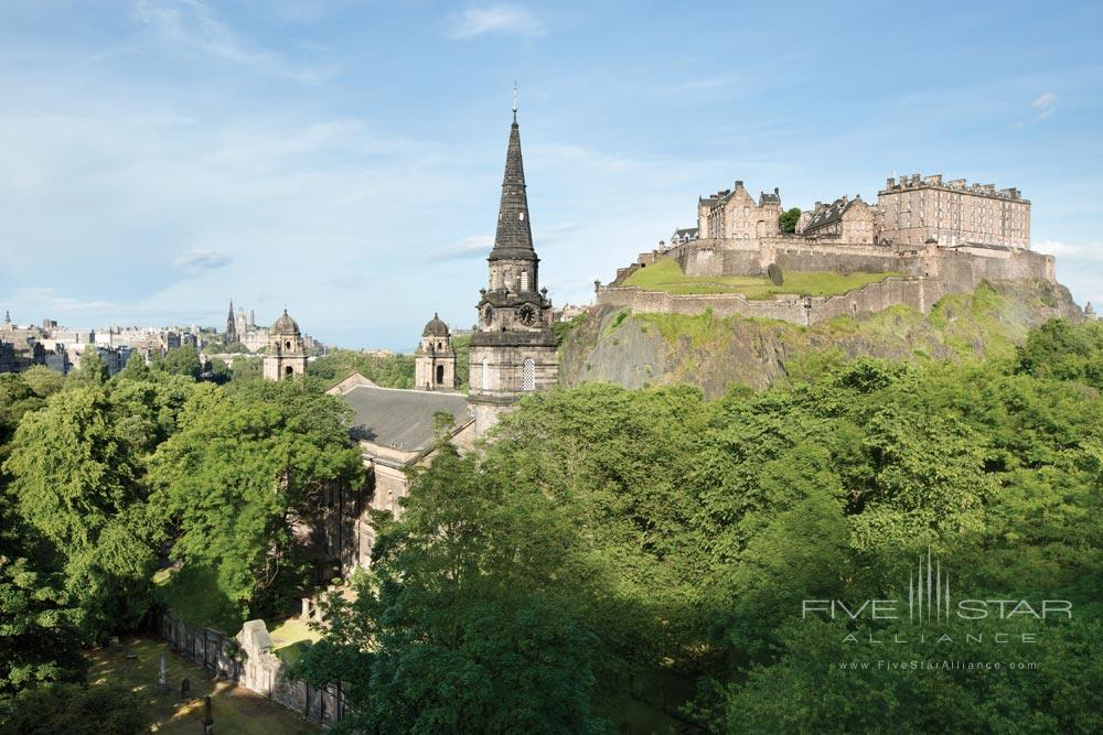 Edinburgh Castle view from the Waldorf Astoria Edinburgh - The Caledonian