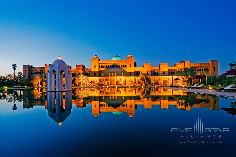 Taj Palace Marrakech Sunset Pool View