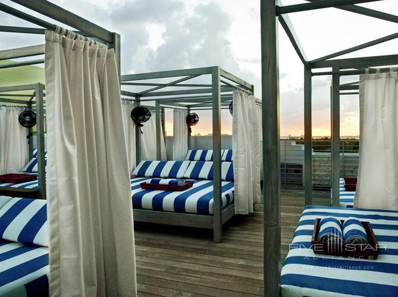 Beds on the Beach at Soho Beach House