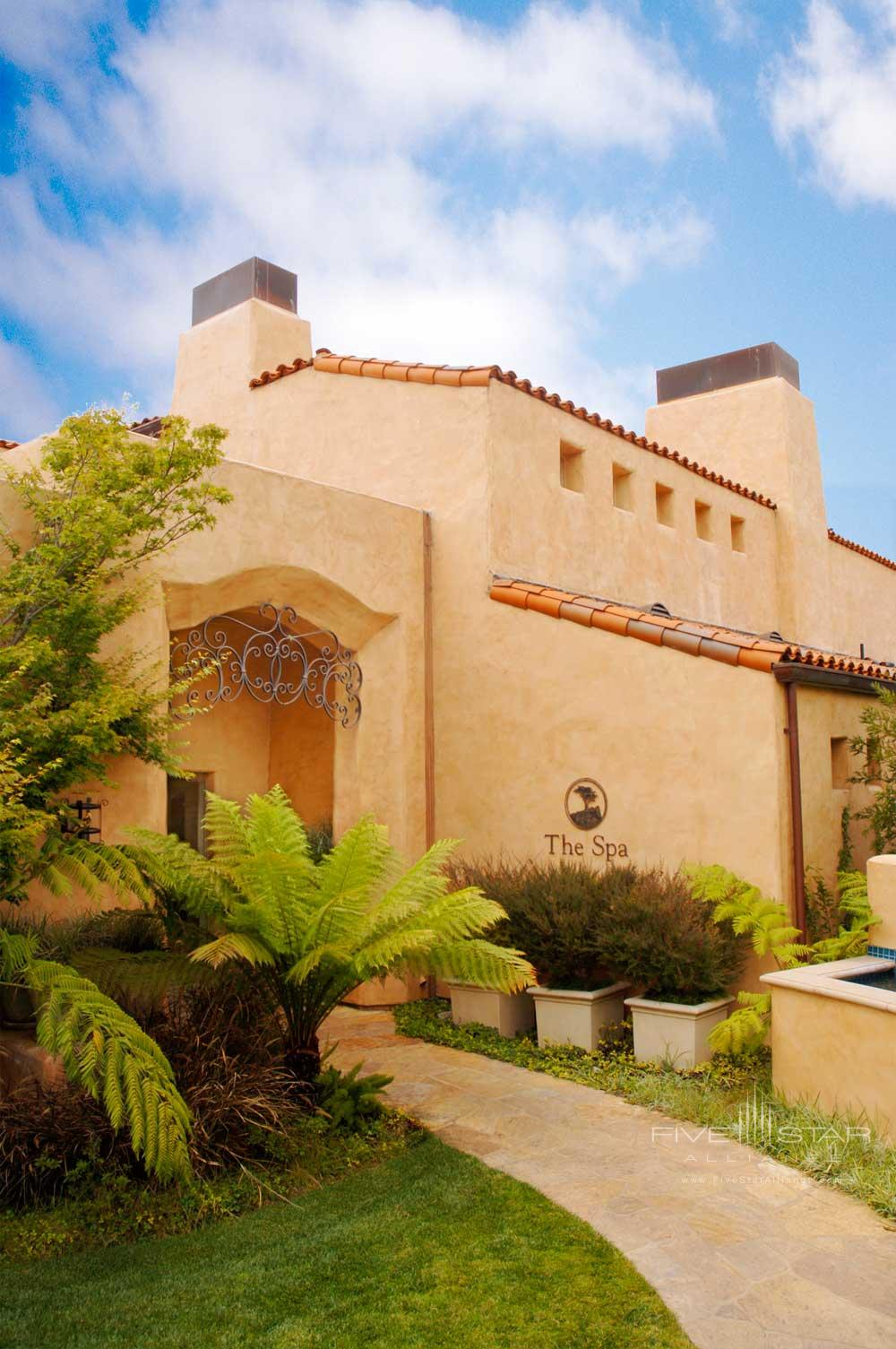 Spa exterior at Casa Palmero Pebble Beach, CA