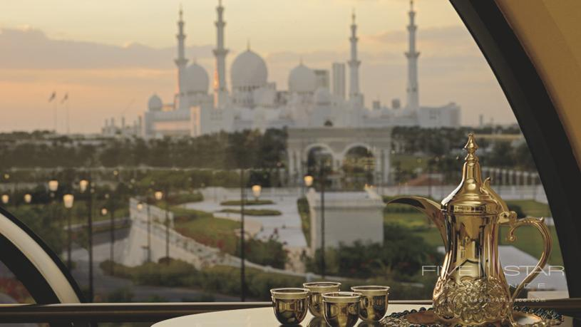 Ritz Carlton Dhabi showing a view of an iconic landmark