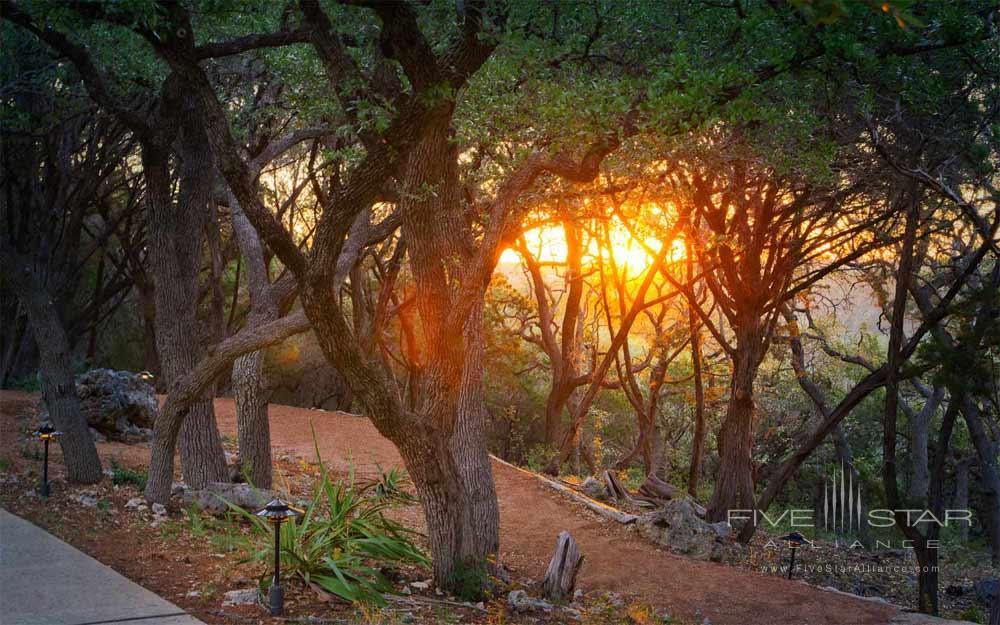 Walking Path at Sunrise at Travaasa Austin