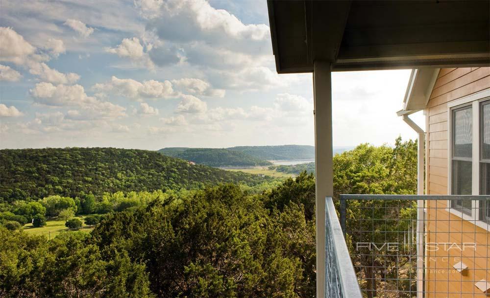 Balcony View of Canyon room at Travaasa Austin