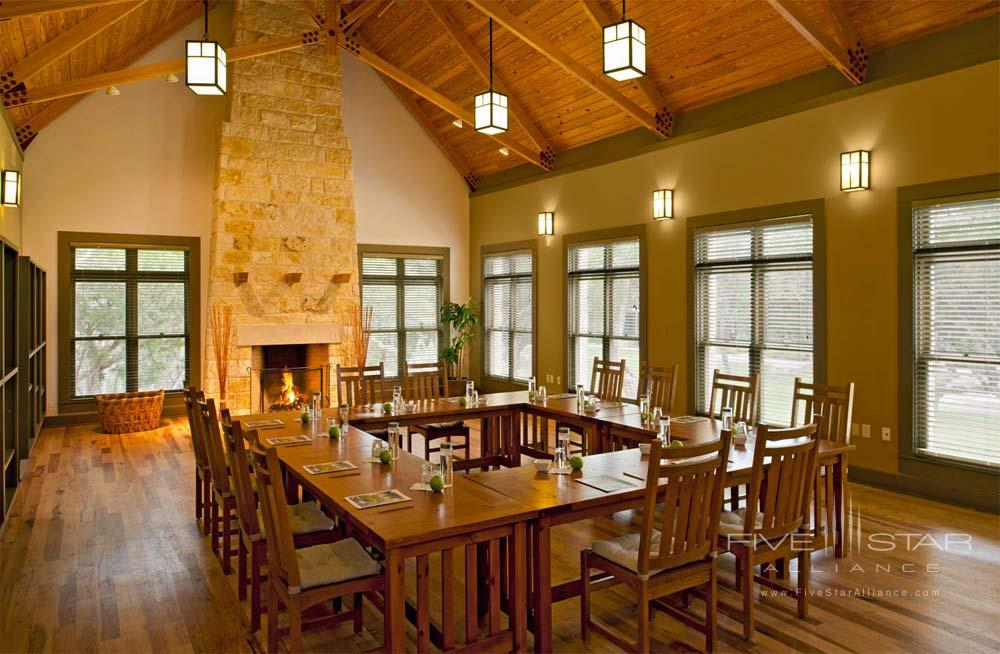 Fireside Room for Meetings at Travaasa Austin