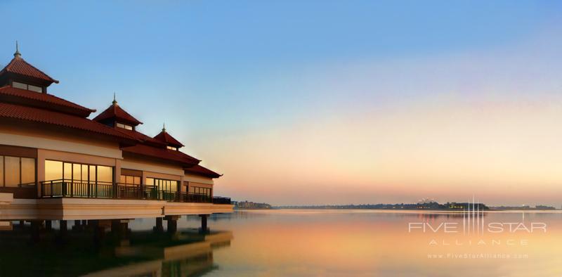 Anantara Dubai The Palm Over Water Villas at Sunset