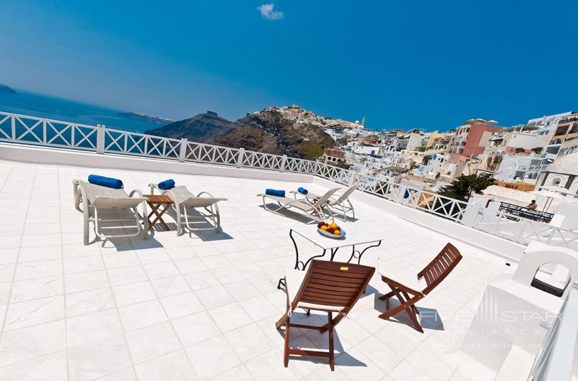 Cori Rigas Sea View Terrace of Courtyard Studios