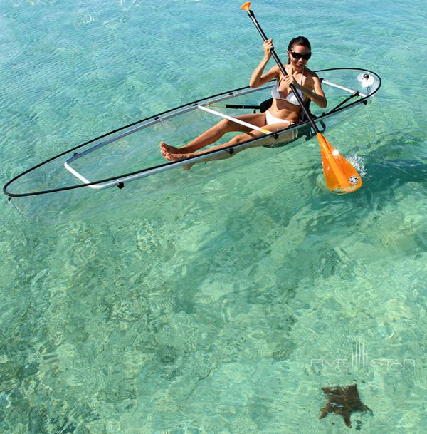 Tiamo Resort offers transparent kayaks
