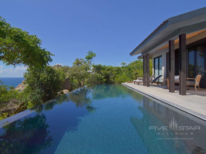 Pool Pavilion Terrace at Amanoi Hotel