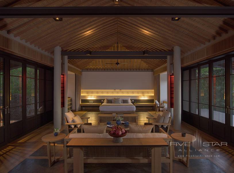 Pool Pavilion Interior at Amanoi Hotel