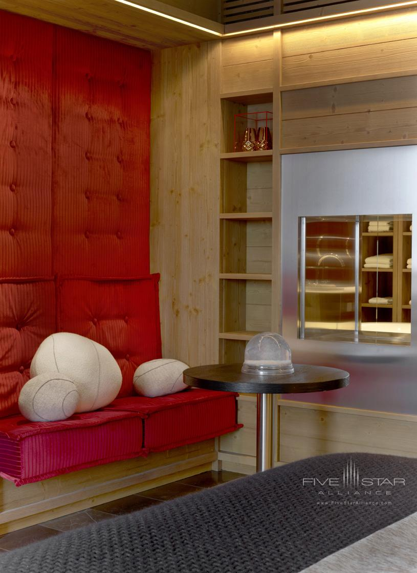 Sitting area at The W Verbier Hotel