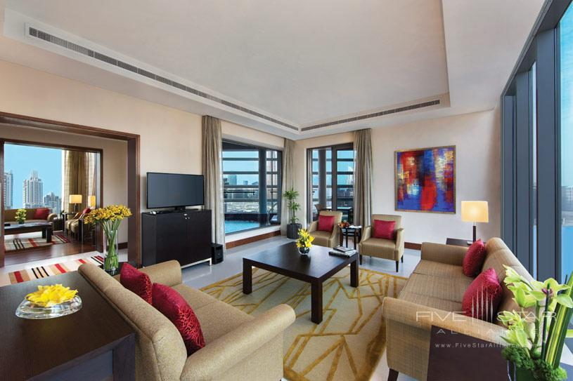 Presidential Suite Living Area at The Oberoi Dubai Hotel