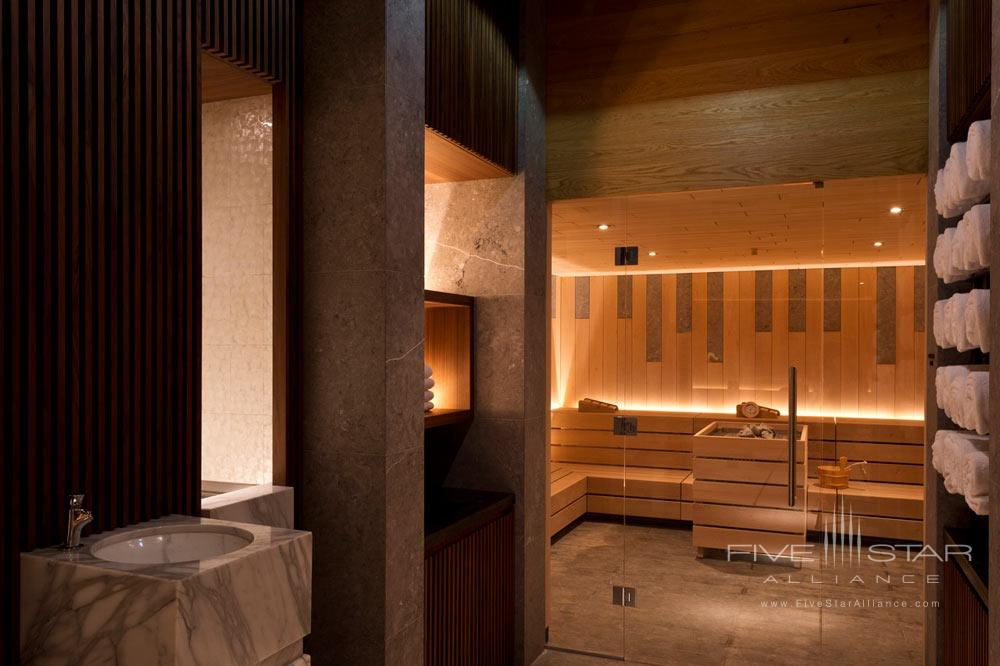 Sauna at Chedi Andermatt