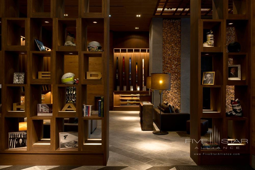Ski Living room at Chedi Andermatt
