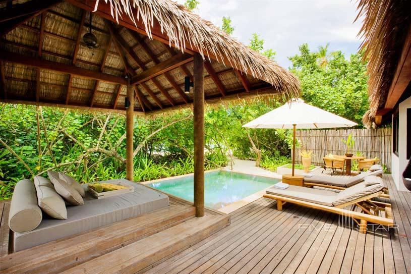 Garden Suite Outdoor Pool Area at Maalifush Como