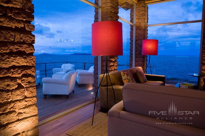 Living Area at The Titilaka Hotel In Peru