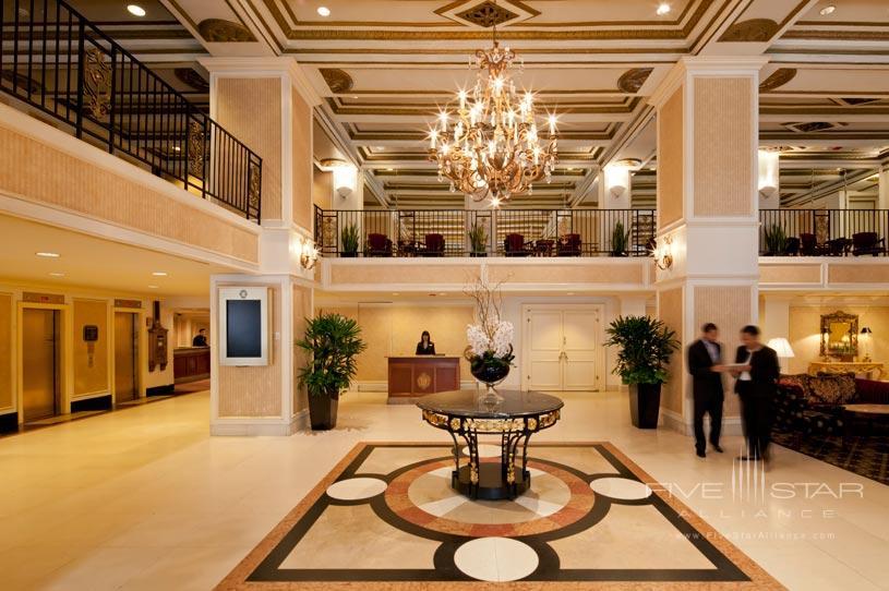 Lobby Area of The Millennium Chicago Knickerbocker Hotel
