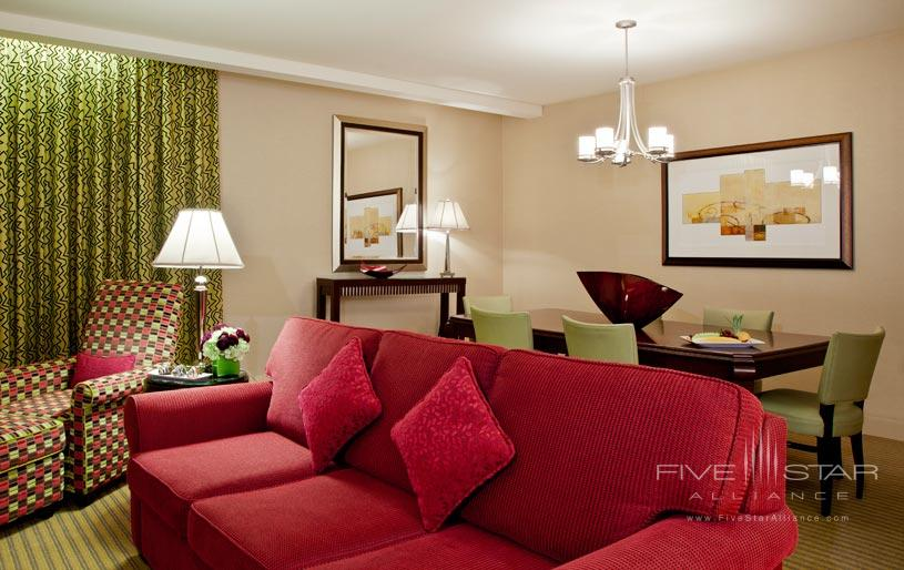 Suite Living Area at The Millennium Chicago Knickerbocker Hotel