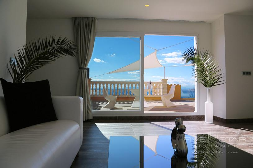 Penthouse Suite Living Area at Hotel Vistabella