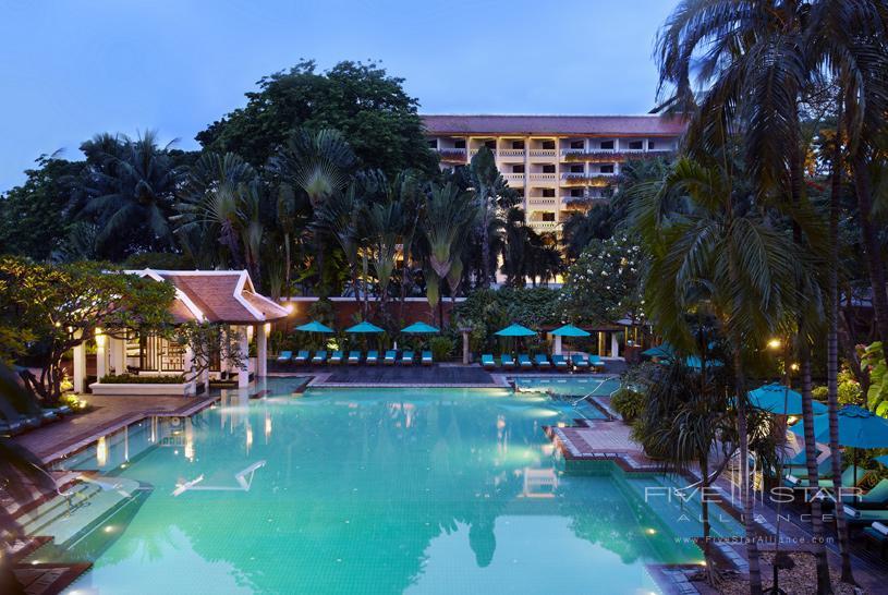 Tropical Pool at The Anantara Bangkok Riverside Hotel