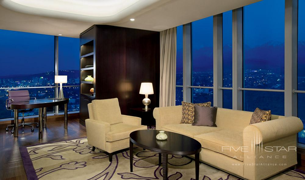 Suite Lounge Room at Ritz Carlton Almaty
