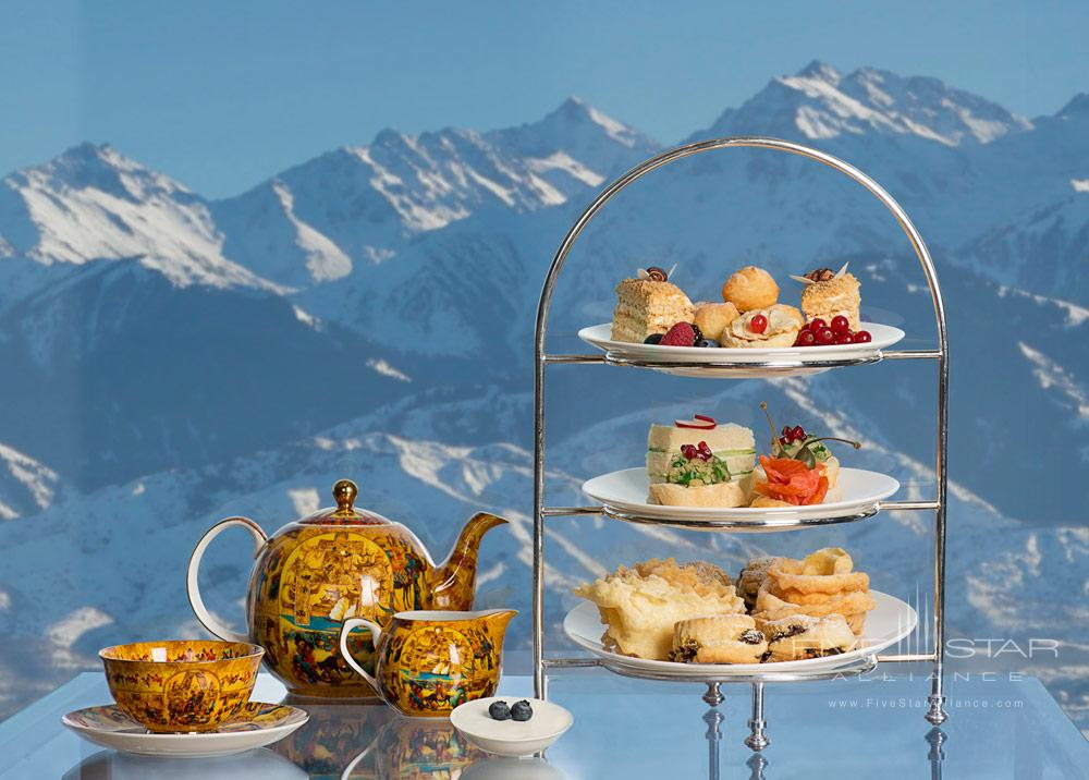 Tea Time with a View at Ritz Carlton Almaty