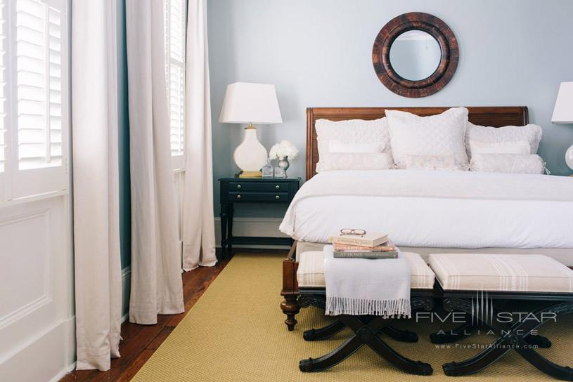 Guest Room at The Zero George Hotel