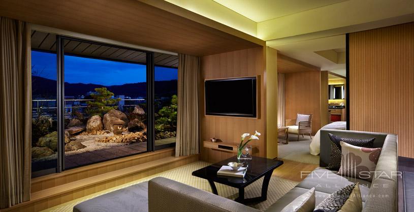 Garden Suite terrace view at The Ritz Carlton Kyoto