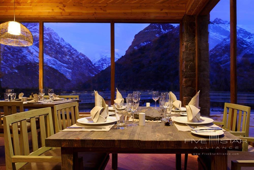 Dining at Puma Lodge, Rancagua, Chile