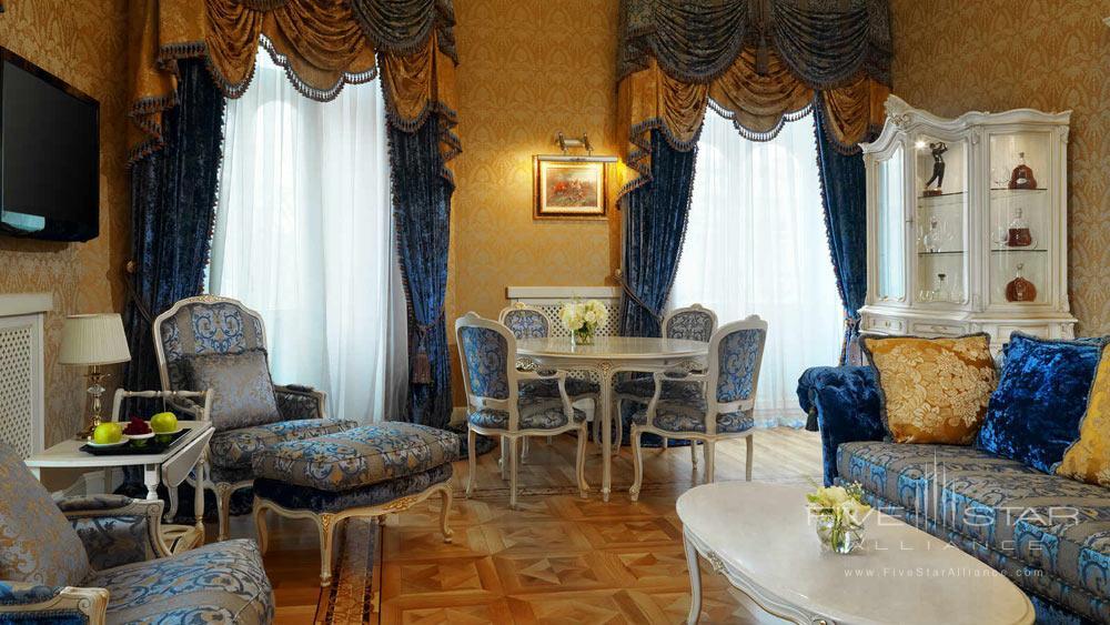 Grand Bristol Suite Living Area at Hotel Bristol Odessa
