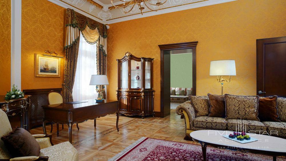 Presidential Suite Living Area at Hotel Bristol Odessa
