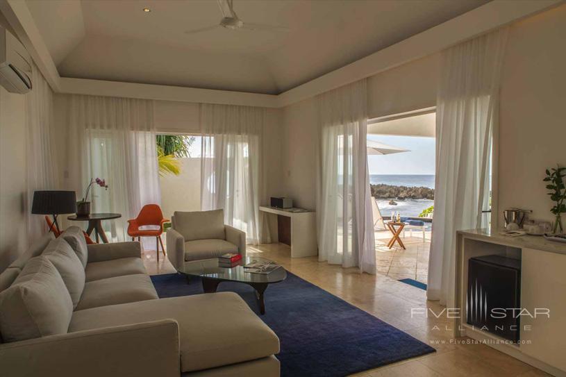 Living Room of Shiprock Villa at Trident Port Antonio, Jamaica