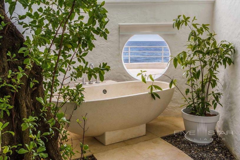 Deluxe Villa Outdoor Tub at Trident Port Antonio, Jamaica