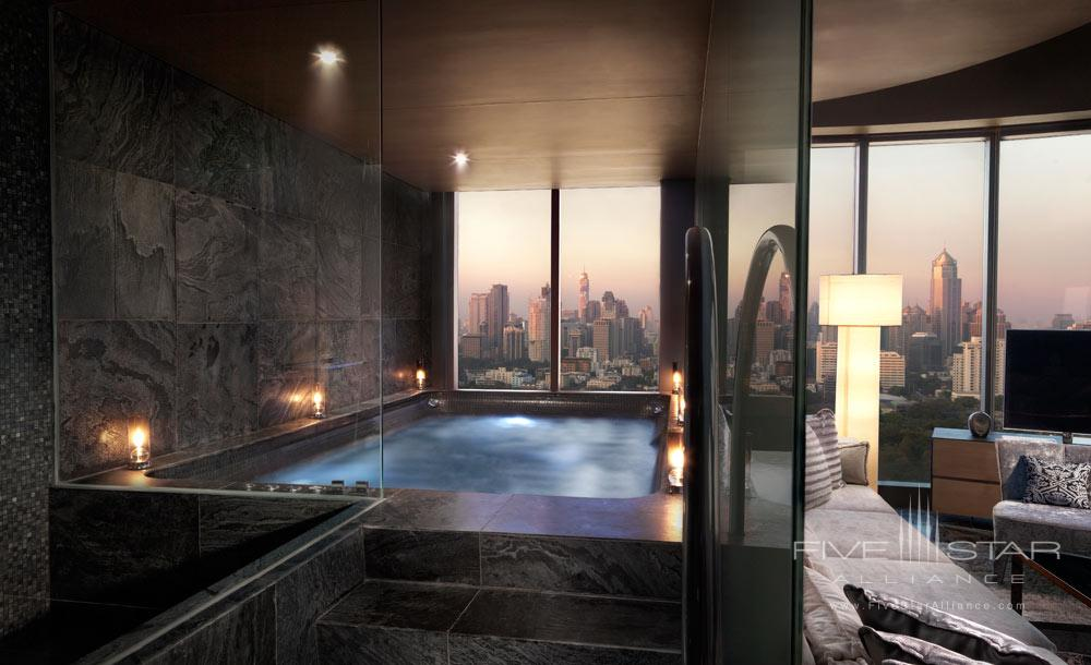 Water Element Guest Room bath at The Sofitel So Bangkok Hotel