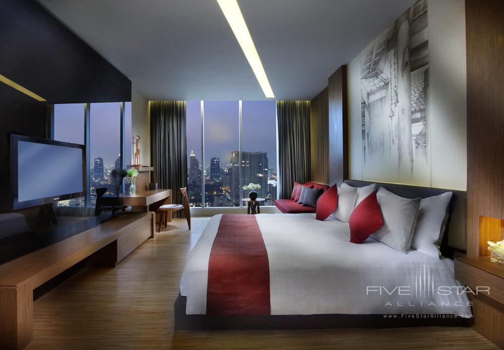 Wood Element Guest Room at The Sofitel So Bangkok Hotel