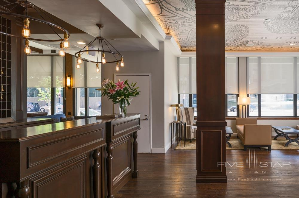 Lobby at The Boxer Boston Hotel
