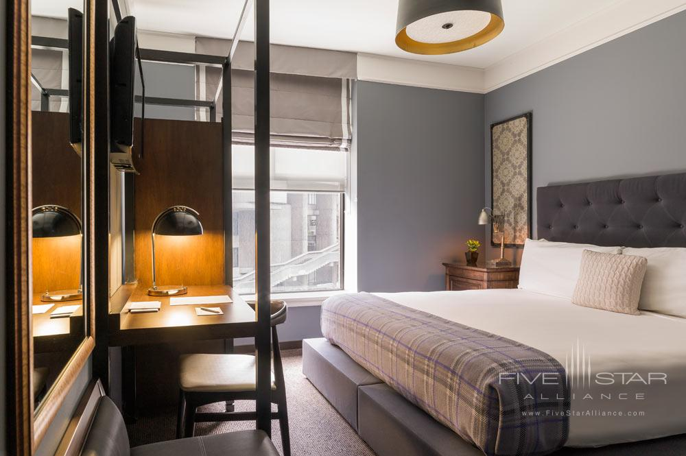 Guest Room with King Bed at The Boxer Boston Hotel
