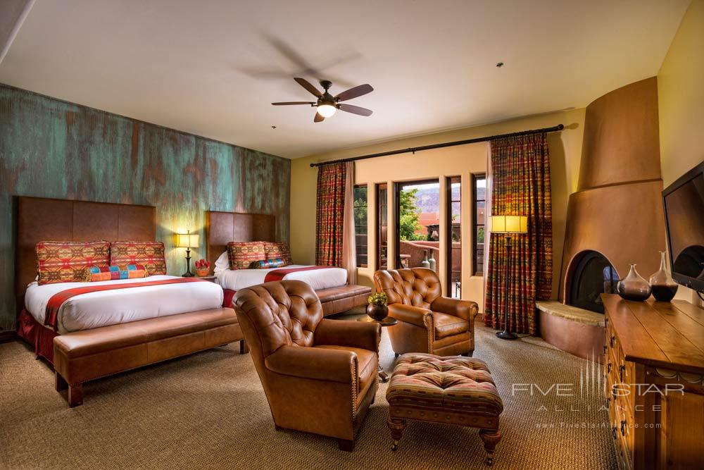 Kiva Double Bedroom at Gateway Canyons Resort and Spa