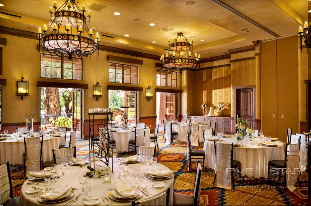 Ballroom Wedding Setup at Gateway Canyons Resort and Spa