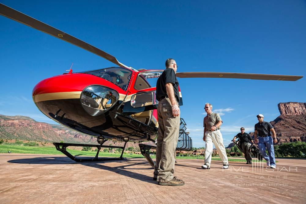 Helicopter Boarding for Golf Activity at Gateway Canyons Resort and Spa