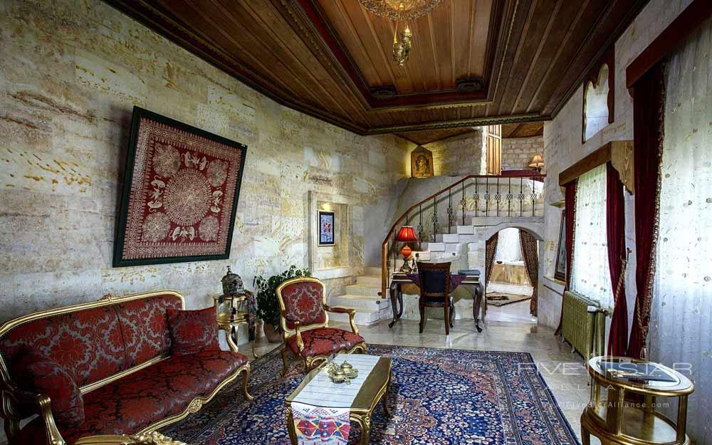 Siting area of the Ebruli Suite at Museum Hotel Cappadocia