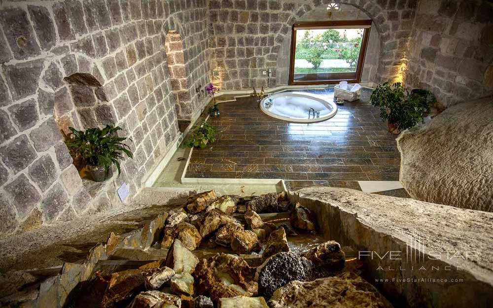 The Selale Cave Suite Jacuzzi tub at Museum Hotel Cappadocia