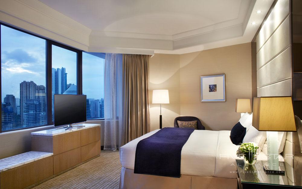 Junior Suite with evening view at The Singapore Marriott Hotel