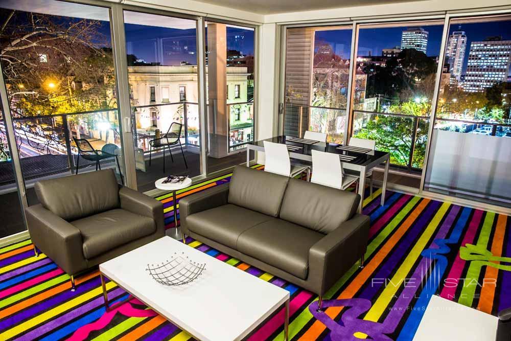 Cityscape Lounge at ADGE Apartment Hotel Sydney