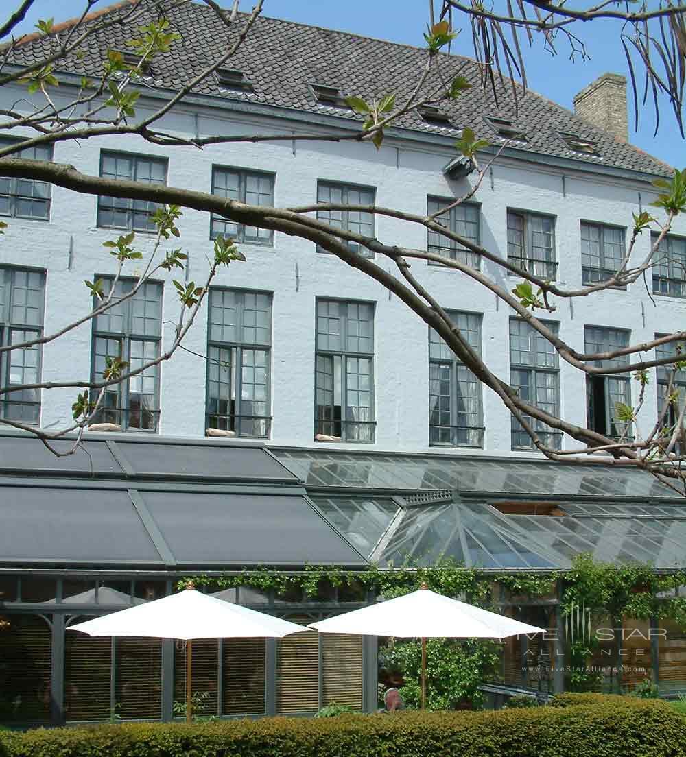 Hotel De Tuilerieen Bruges Exterior Patio