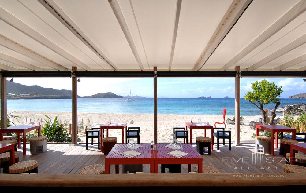 Beachfront Dining at Hotel Taiwana, St. Barthelemy