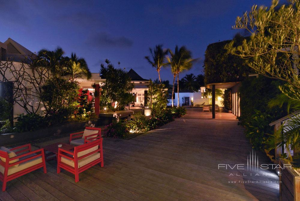 Deck by Night at Hotel Taiwana, St. Barthelemy