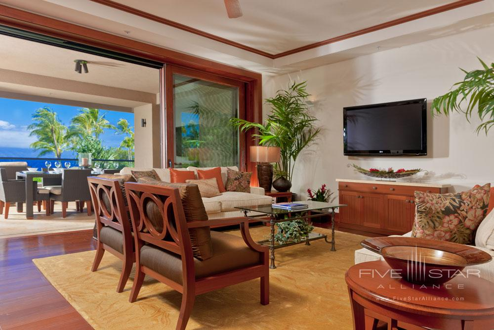 Seating Area of Guest Suite at Montage Kapalua Bay