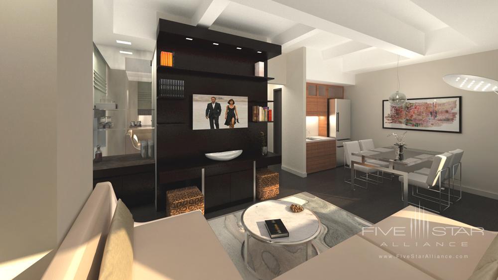 Penthouse Living Room at The Marmara Park Avenue, New York
